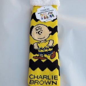 Peanuts Sherpa Lined Slipper Socks